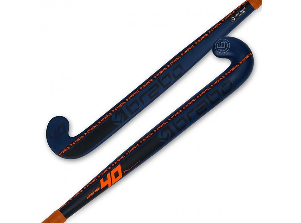 Hockeystick Heritage 40 CC Mid Bow Navy Orange
