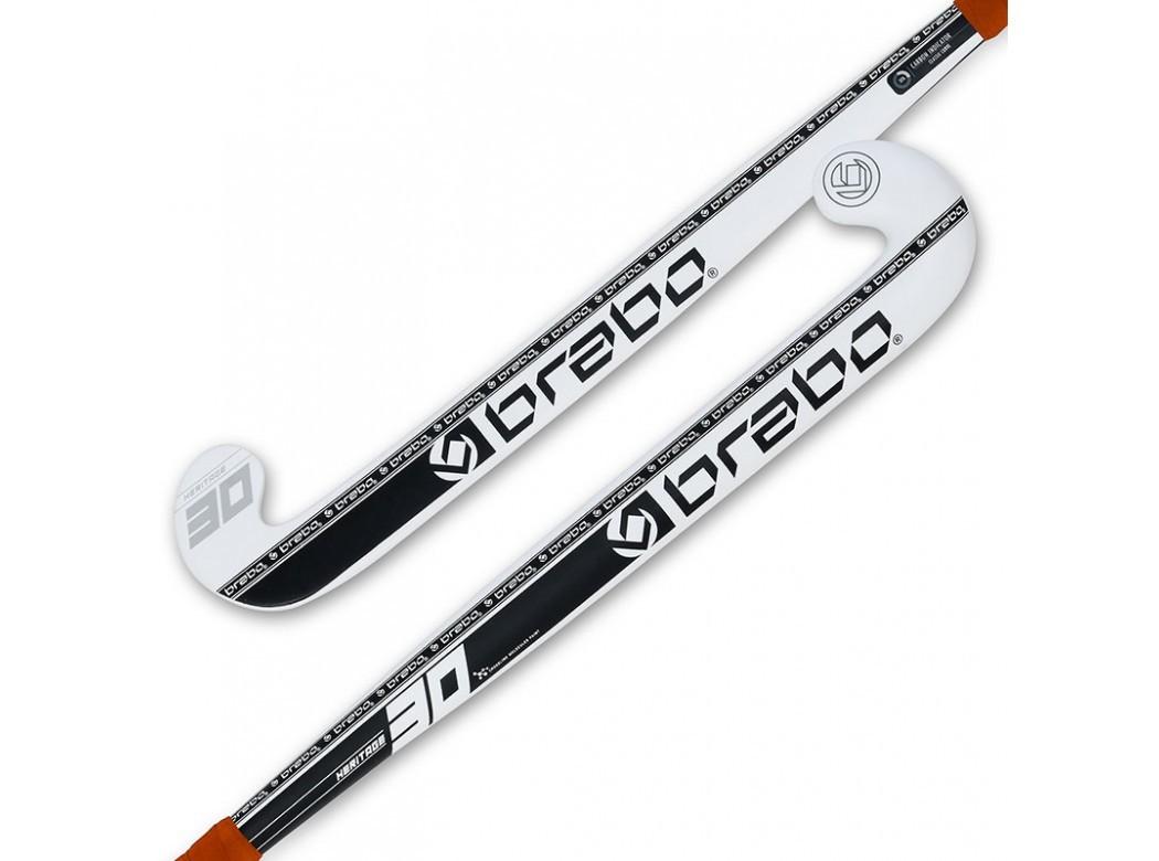 beste goedkoop nu kopen sneakers voor goedkoop Brabo Hockeystick Heritage 30 CC Mid Bow White Black - Play ...