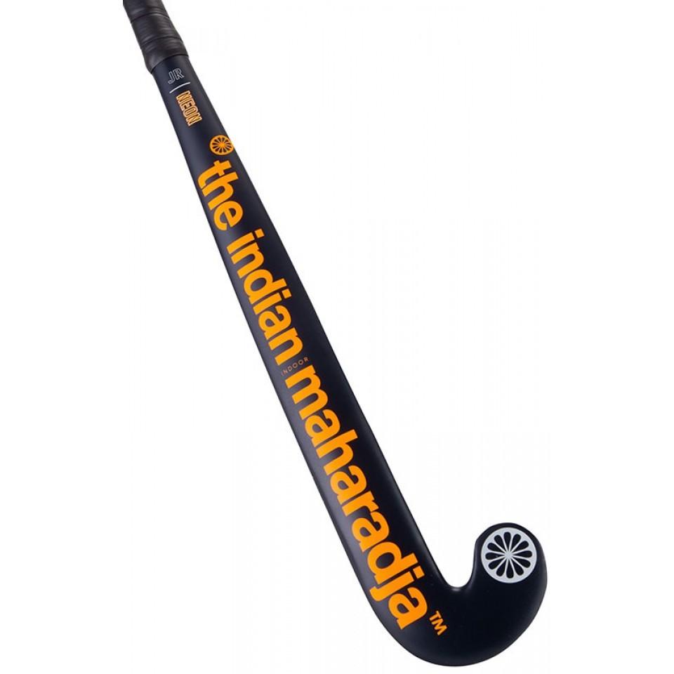 Zaalhockeystick Neon JR Donkerblauw Oranje