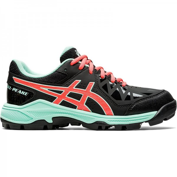 1114A016-001 Asics Hockeyschoenen Gel-Peake GS Kids Black Flash Coral