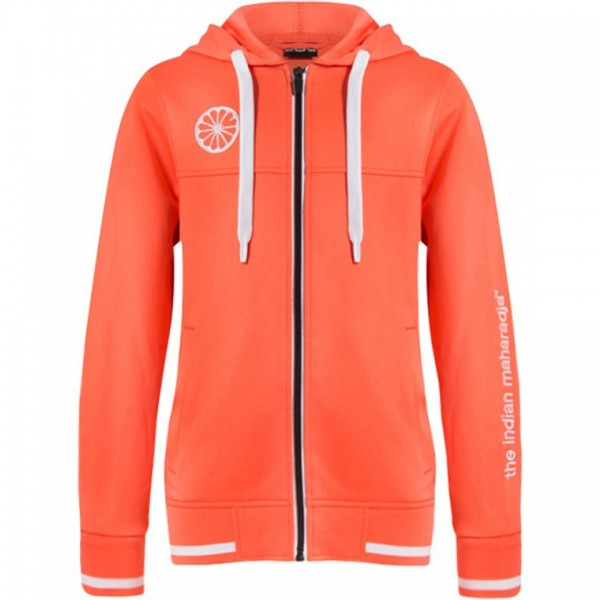 T034-Coral The Indian Maharadja Vest Kids Tech Hooded Coral