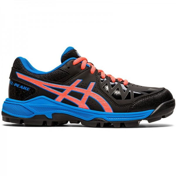 1114A016-002 Asics Hockeyschoenen Gel-Peake GS Kids Black Blue