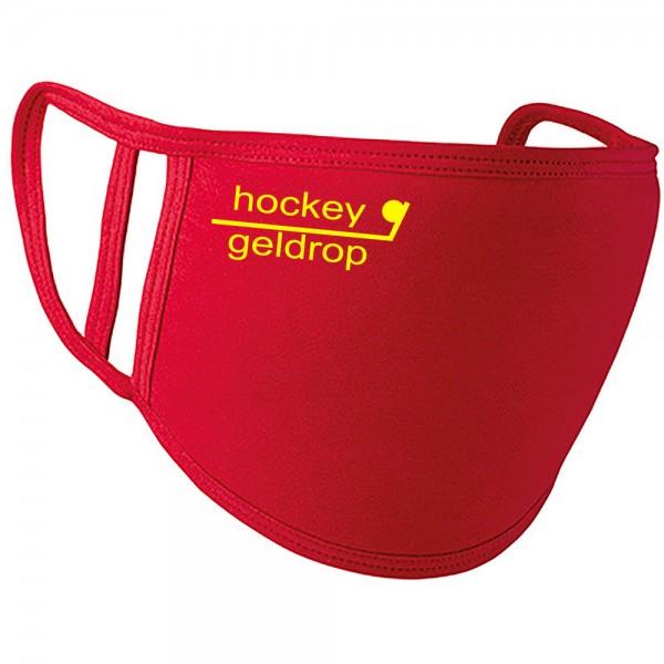MNDKP1-geldropR Play Mondkapje Hockey Geldrop Rood 1 stuk